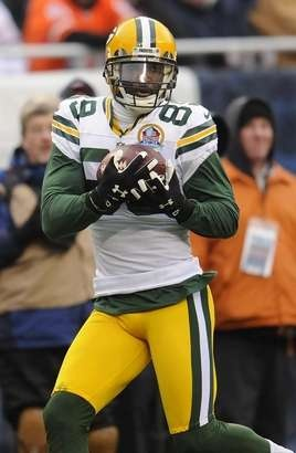 ... Authentic Green Bay Packers receiver James Jones (89) pulls in a pass  for a touchdown ... 0a43f463e