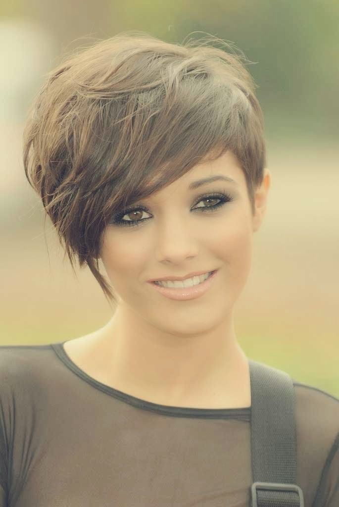 Chic Pixie Haircuts with Long Bangs 2014