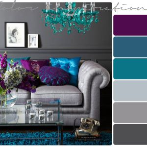 Colors for bedroom..... turquoise walls? My bedding is gray with purple accents