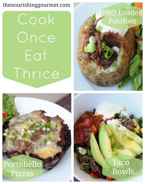 Cook Once, Eat Thrice Night #1: BBQ Loaded Baked Potatoes | Recipe