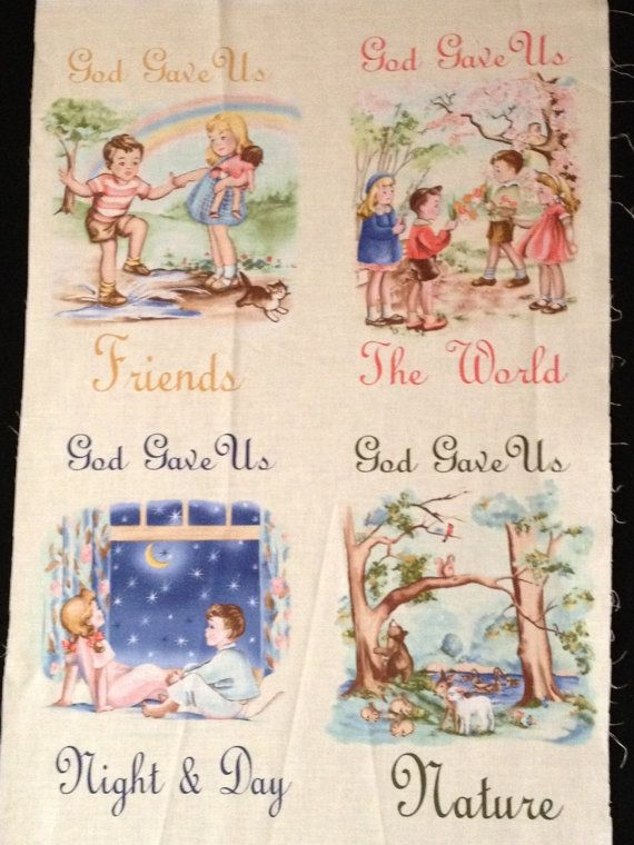 Timeless Treasures Fabric  God Gave Us by KoopsKountryKalico, $5.99Fabrics God, Treasure Fabrics, Needle Art, Timeless Treasure, Art Favorite