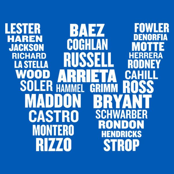 W Names Chicago Cubs Shirt | The Heckler Store