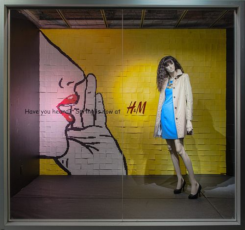 Post-it Note Window Display 2014, Visual Merchandising Arts. The School of Fashion at Seneca College.