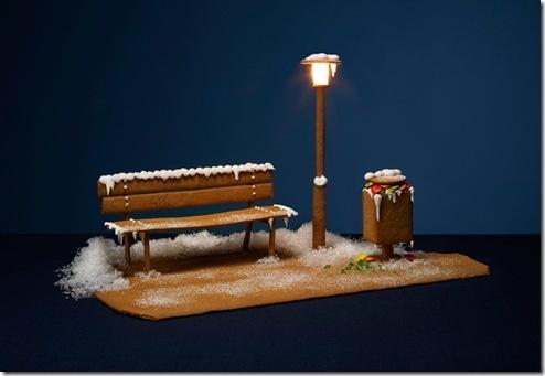 Gingerbread bench - so original