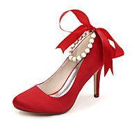 Dame+-+Pantofi+de+nunta+-+Tocuri+/+Vârf+Rotund+-+Pantofi+cu+Toc+-+Nuntă+/+Party+&+Seară+-+Negru+/+Albastru+/+Roz+/+Roșu+/+Fildeș+/+Alb+–+EUR+€+68.60