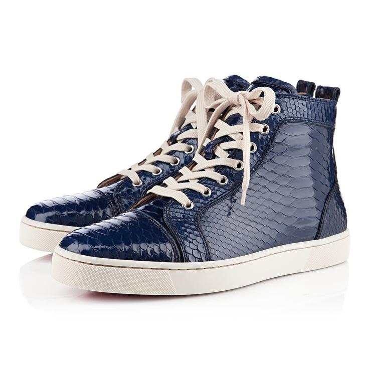 scarpe calcio Uomo Men Christian Louboutin Louis Python Navy