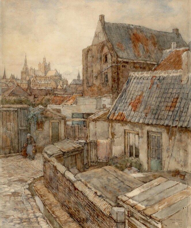 Frans Slager, Gezicht op de stad vanuit het St. Jacobskerkhof