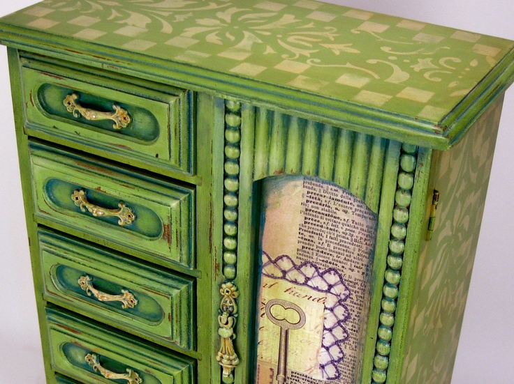 72 best Painted Jewelry Boxes images on Pinterest Shabby chic
