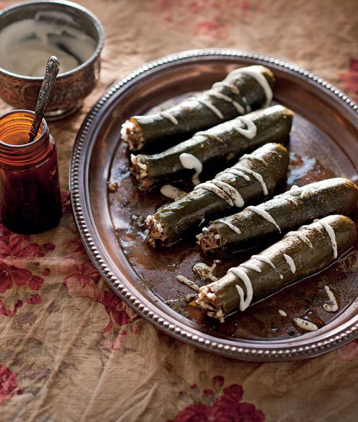 Kousa mihshi bi laban by Tess Mallos from The Complete Middle Eastern Cookbook | Cooked