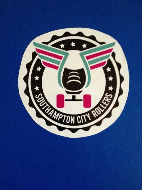 Southampton City Rollers Logo Sticker, Roller derby team UK.