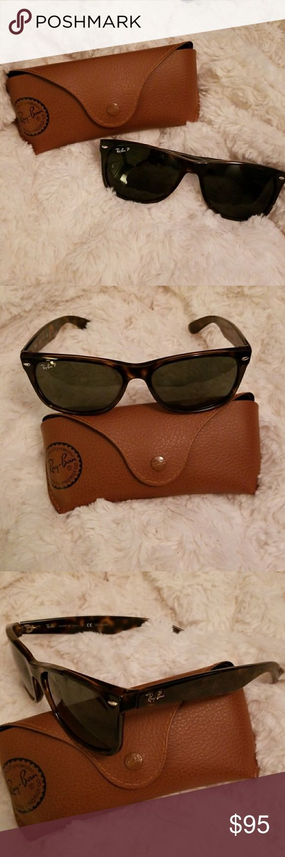 Ray-Ban New Wayfarer Sunglasses Classic tortoise colored authentic Ray-Ban sunglasses. Brand new. Comes with original case and cloth. Price negotiable. Ray-Ban Accessories Sunglasses