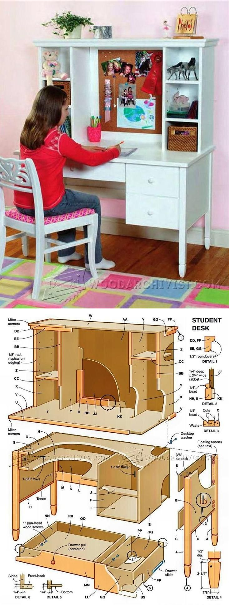 Design Homemade Dining Table Plans Diy Ideas 187 Woodplans Woodplans - Student desk plans children s furniture plans and projects woodarchivist com