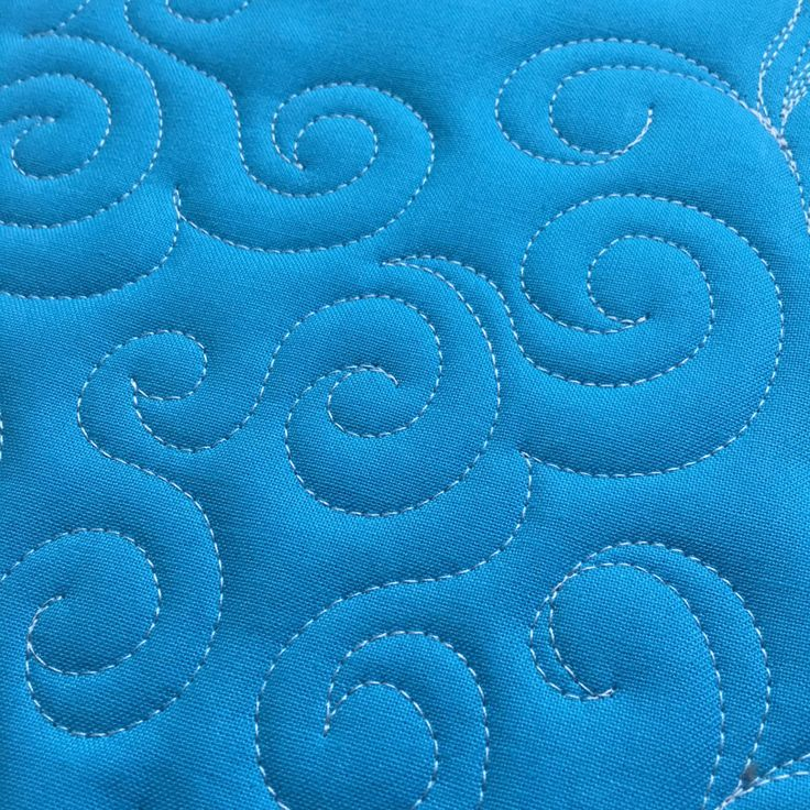 How to Free-Motion Quilt Swirl Designs - open swirl desgin                                                                                                                                                                                 More