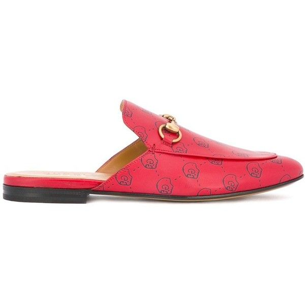 Gucci GucciGhost Princetown slippers (5,180 CNY) ❤ liked on Polyvore featuring men's fashion, men's shoes, men's slippers, red, mens leather shoes, mens leather slippers, gucci mens slippers, gucci mens shoes and mens red shoes