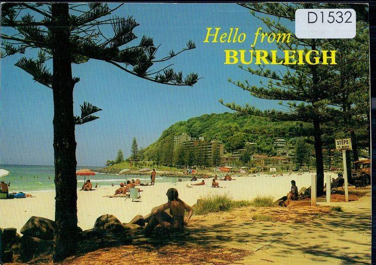 D1532cgt Australia Q Burleigh Heads Gold Coast postcard | eBay