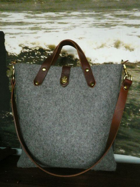 the flaneur felt tote by fluxproductions on Etsy, $290.00