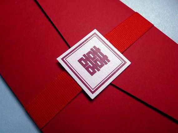 Asian Inspired Tea Length Wedding by PrettyStationeryShop on Etsy