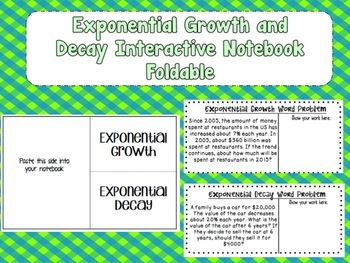 Worksheets Exponential Growth And Decay Worksheet 17 best ideas about exponential growth on pinterest logarithmic and decay interactive notebook foldable