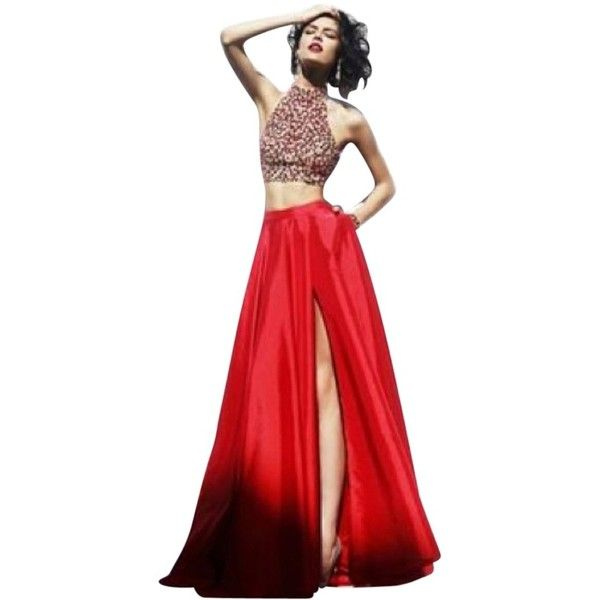 Pre-owned Sherri Hill Red Dress (£235) ❤ liked on Polyvore featuring dresses, red, sherri hill dresses, sherri hill, puffy dresses, red cocktail dress and sherri hill cocktail dresses