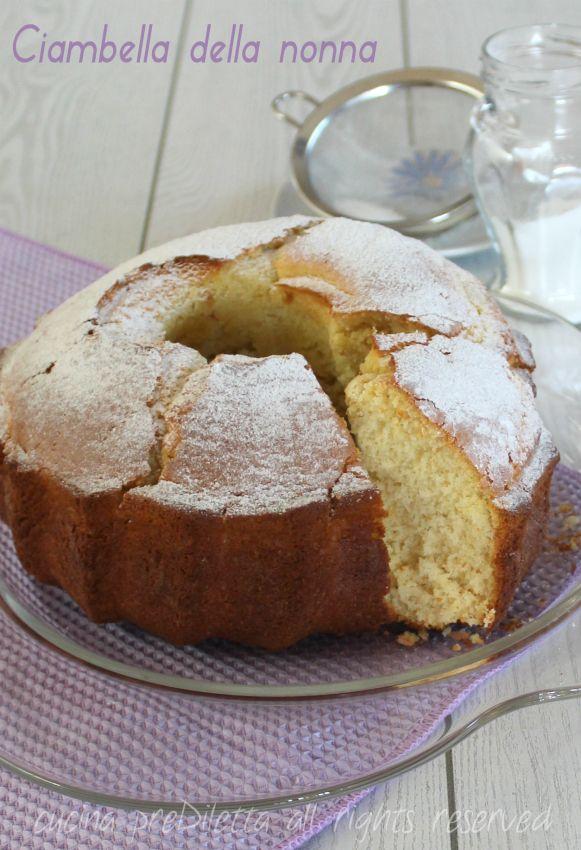 Ciambella della nonna - ricetta classica | cucina preDiletta