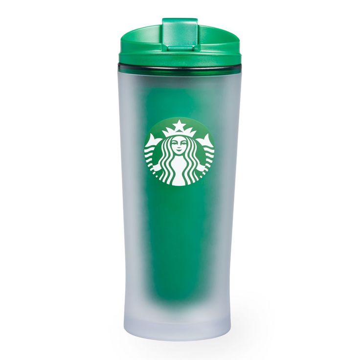 An acrylic, double-walled tumbler with a soft, frosted outer sleeve and green interior.