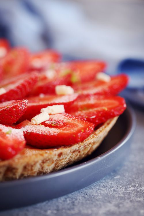 Tarte sablée au citron vert/ mascarpone et fraises | chefNini