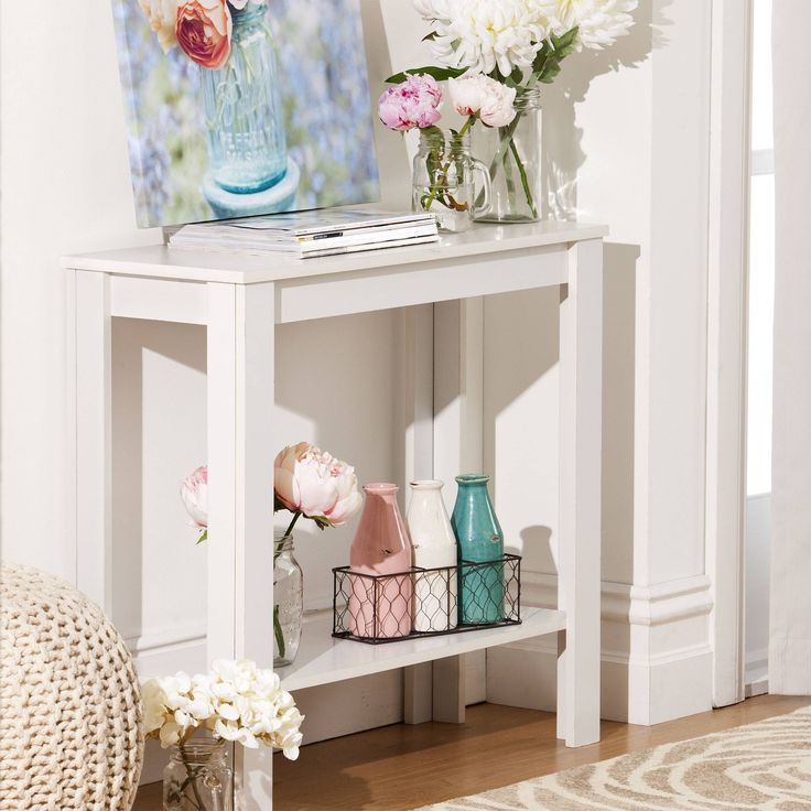 Hall table - elegantly decorated.... From Kmart catalog!