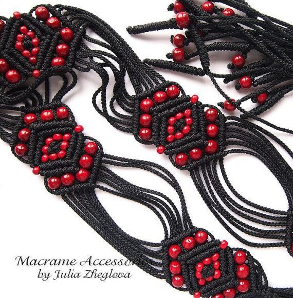 how to make a macrame belt