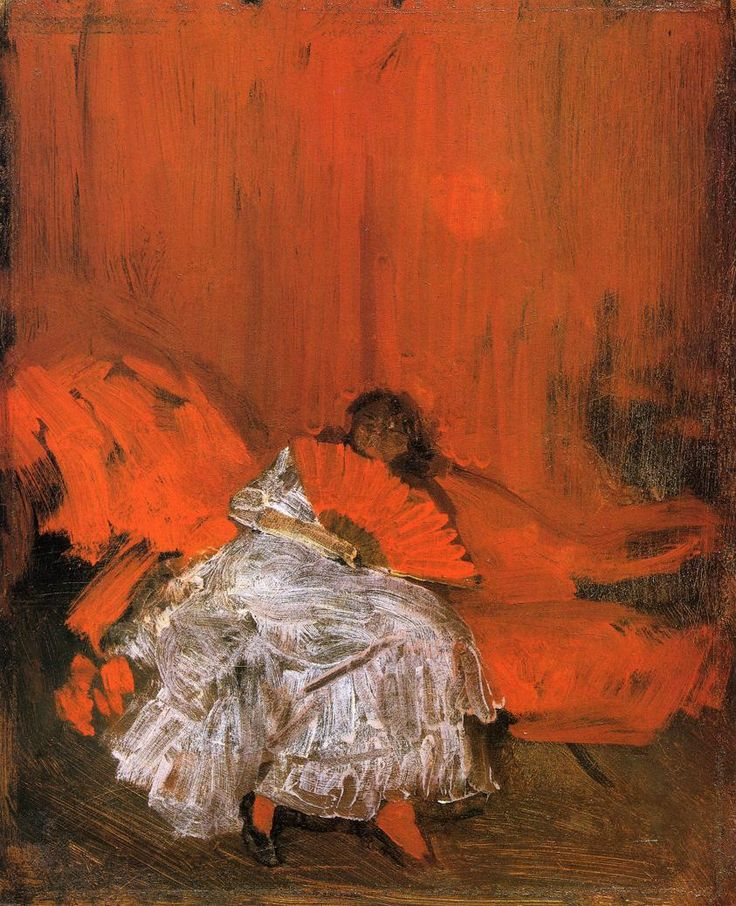 Red and Pink The Little Mephisto Artist: James McNeill Whistler Completion Date: c.1884