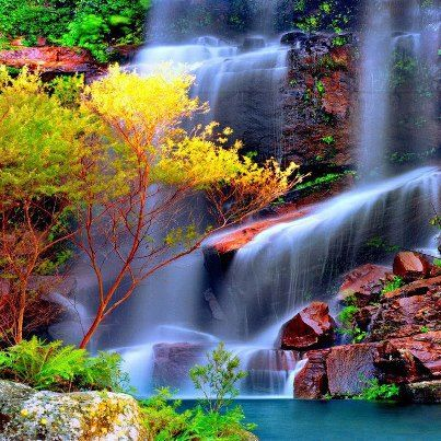 waterfalls   #Beautiful #Places #Photography
