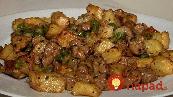 Úžasne lahodné mäsko s cesnakom a zemiakmi!