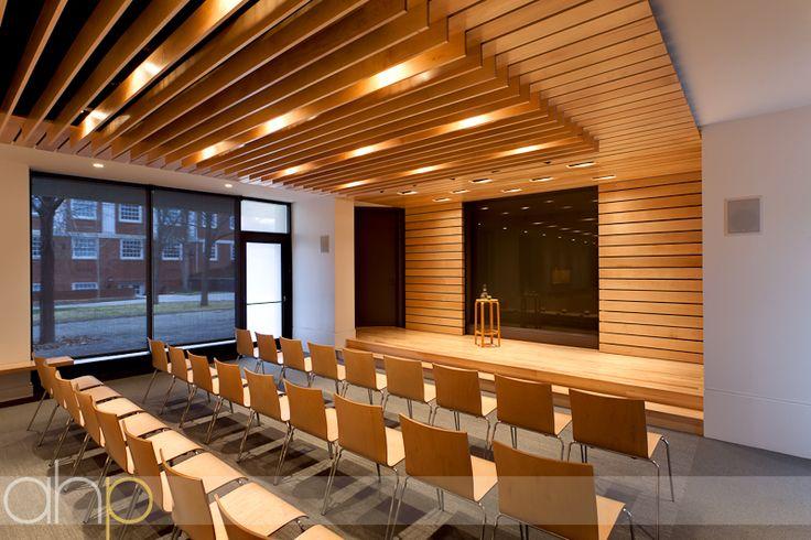 Another lovely design by Wolf Ackerman;the interior renovation of the  Leyburn Auditorium at Washington & Lee University.
