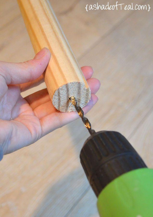 Easy DIY- Wood Curtain Rod for Under $20, custom wood curtain rod. | A Shade Of Teal