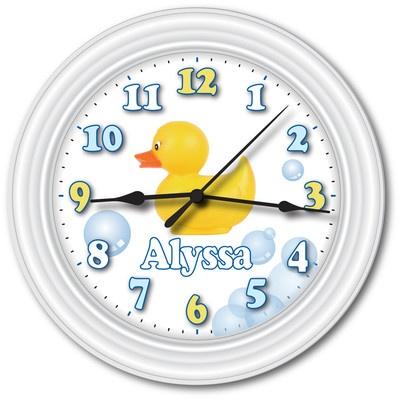 Personalized Rubber Duck Wall Clock Ducky Bathroom Nursery Baby Shower Gift | eBay