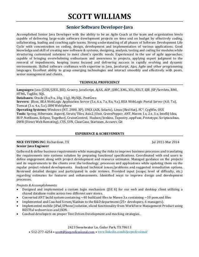 8 Java Architect Resume Architectureresume Template Writing Software Resume Software Architect Resume