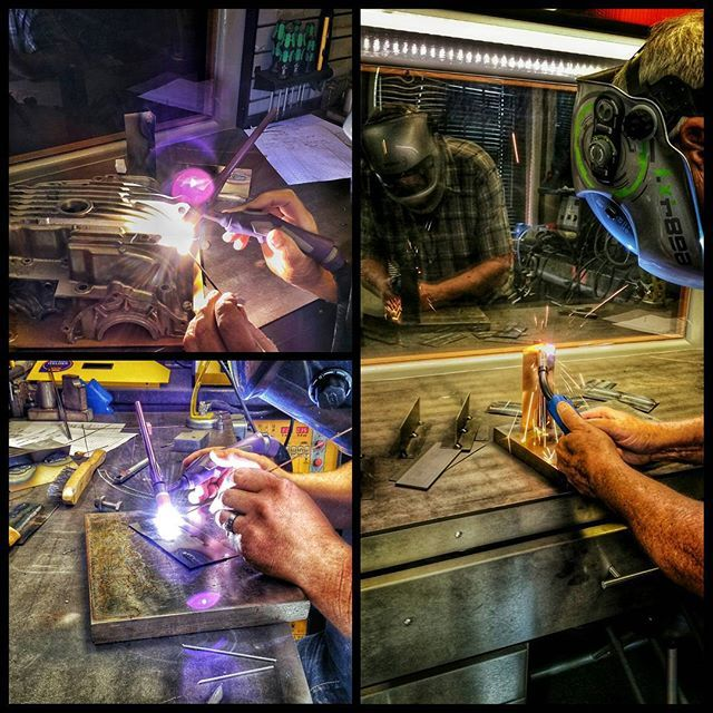 MIG TIG & Brazing practise today at SPA Welding in Lancing with @deant47 ..... oh and plasma cutting :) by andrew_bellamy