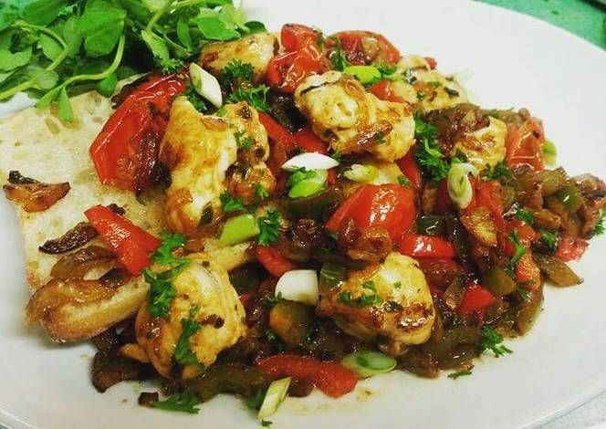 Mediterranian Monkfish Recipe -  I think Mediterranian Monkfish is a good dish to try in your home.