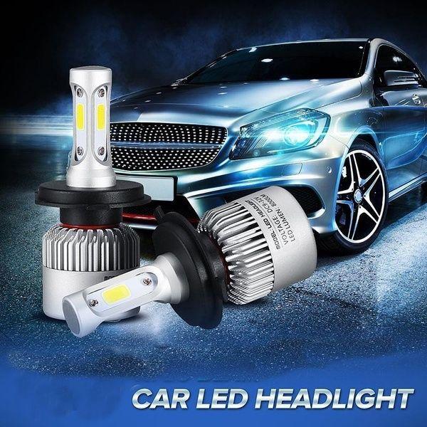 H13 72W 8000LM Cree LED Headlight Kit High//Low Beams Bulbs 6500K White Lamps