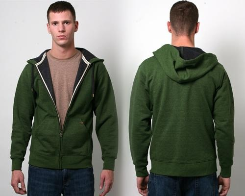 For the green-minded guy in your life, this #hoodie consists of 70% #cotton, 30% #polyester and 100% #recycled textile scraps. #giftideas
