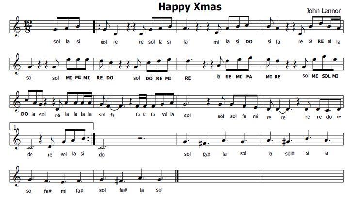 Musica e spartiti gratis per flauto dolce: Happy_xmas_lennon