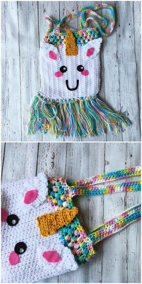 Unicorn Tote Bag Free Crochet Pattern Crochet Crochet Free