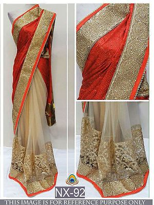 Sari Designer Traditional Indian Partywear Saree Ethnic Wedding Bollywood NX92.U