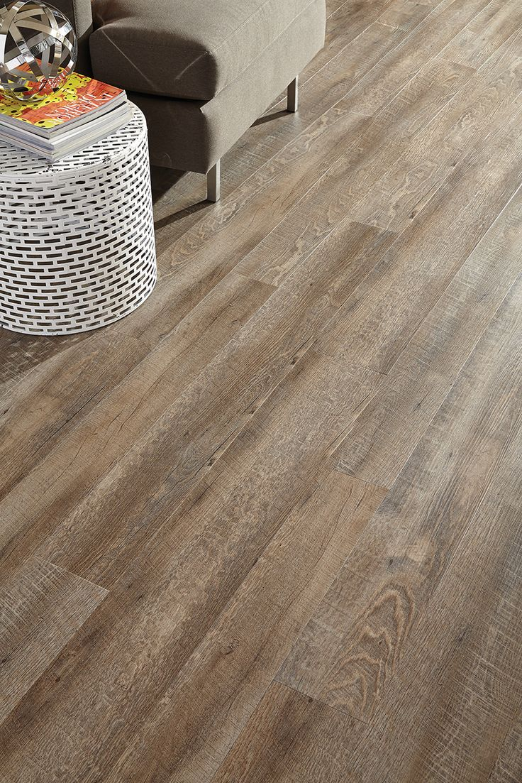 "STAINMASTER® 'Driftwood' Vinyl Floating Plank 6"" x 36"" 4.0mm thick. Flooring for Shop room/bathroom. I paid $2.06/sq ft CDN $"