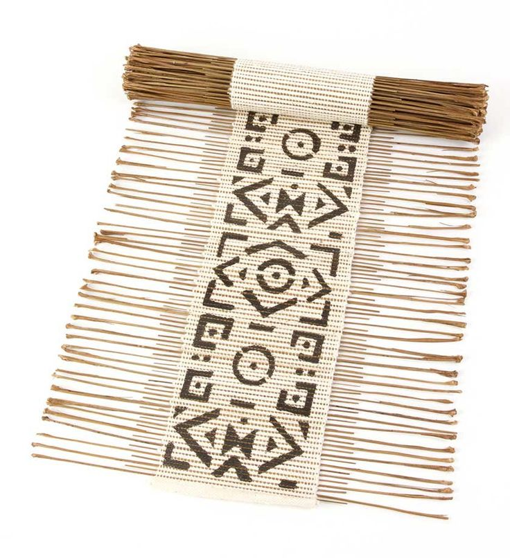 African Twig & Mudcloth Table Runners - Kitchen Handmade in Africa - Swahili Modern - 1