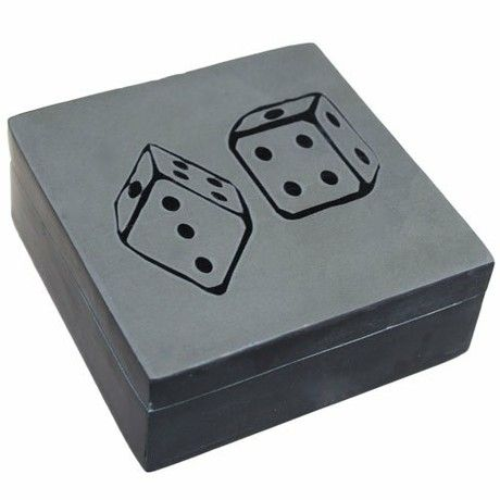 Ancient Wisdom Lucky Stone Box - Two Dice