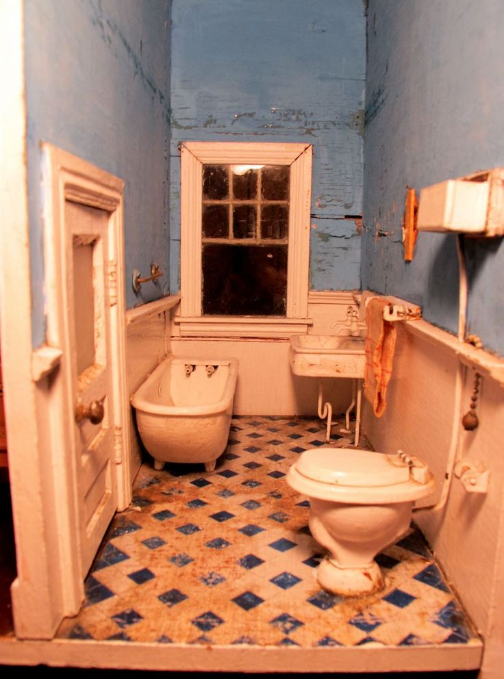 263 Best Images About Dollhouse Miniature Bathroom On