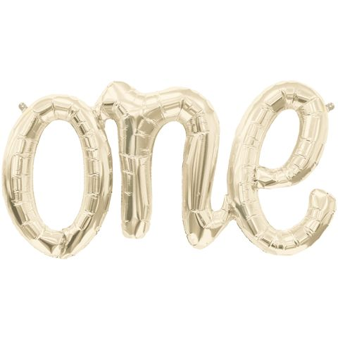 This fabulous new gold ONE script balloon is perfect for celebrating that ever…