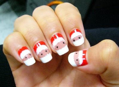 Love Love Love!: Fingernail Ideas, Nails Art, Christmas Nails, Nails Hair Makeup, Holidays Theme, Nails Ideas, Changing Nails, Santa Fingernail, Santa Nails