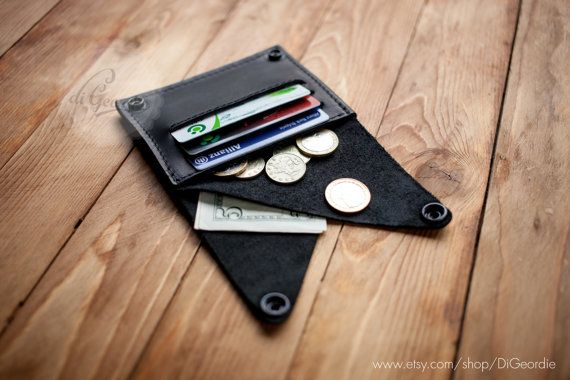 Coin pocket wallet leather wallet woman slim wallet by DiGeordie