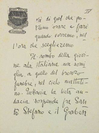 D'Annunzio Gabriele : La canzone di Garibaldi.  - Asta Manoscritti, Incunaboli, Autografi e Libri a stampa - Libreria Antiquaria Gonnelli - Casa d'Aste - Gonnelli Casa d'Aste